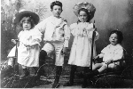 Goldwin Pirie as a child– Goldwin Pirie as a child.  Left to right:  Jean Booth Pirie, Russell Fraser Pirie, Elsie Gowan Pirie and Goldwin McCausland Pirie. Dundas, Ontario, circa 1896.