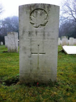 Grave Marker– Photo submitted by 15th Battalion Memorial Project Team 28 Mar 2012.