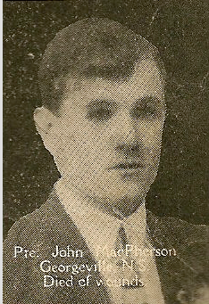 Photo of John McPherson– From the book, Catholics of the Diocese of Antigonish, Nova Scotia and the Great War 1914- 1919. Submitted for the project Operation Picture Me