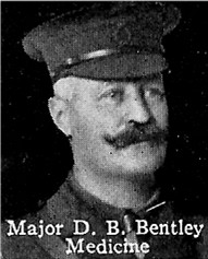 Photo of David Bentley– From: The Varsity Magazine Supplement published by The Students Administrative Council, University of Toronto 1916.   Submitted for the Soldiers' Tower Committee, University of Toronto, by Operation Picture Me.