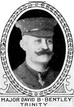 Photo of David Bentley– From: The Varsity Magazine Supplement published by The Students Administrative Council, University of Toronto 1918.   Submitted for the Soldiers' Tower Committee, University of Toronto, by Operation Picture Me.