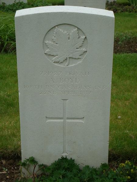 Grave Marker– Alexander Boyd Grave Marker, Shorncliffe