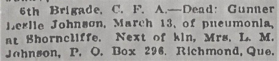 Newspaper clipping– From the Daily Colonist of March 16, 1915. Image taken from web address of https://archive.org/stream/dailycolonist57y82uvic#mode/1up