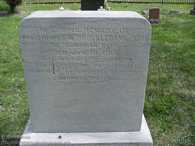 Grave Marker– Marker at Windsor Grove Cemetery, Windsor Ontario.