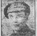 Newspaper Clipping– Photograph and news article about the life and death of Cpl George Marmaduke Bateson.