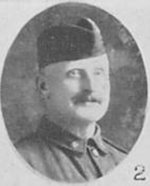"""Photo of Harry Taylor– Photo taken from """"A Short History and Photographic Record of the 73rd Battalion, Canadian Expeditionary Force, Royal Highlanders of Canada"""" Page 44.  'E' Company."""