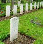 Cemetery– Canadian graves in St. James Churchyard, Hampton Hill, U.K.