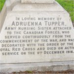 Inscription– A close up of Sister Tupper's headstone