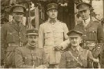Photo of Stanley Cornell– Stanley Anderson Cornell is standing at the back on the right as you look at the photo.  Photograph probably taken in France year unknown, although he appears to be wearing the 1914/15 medal ribbon which were issued in 1917.