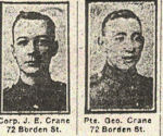Newspaper Clipping– Pte. Clement Eric Crawford was born in Rugby, England. He signed his attestation for the C.E.F. at Niagara-on-the-Lake, Ontario, on June 11th, 1915.  In honoured memory.