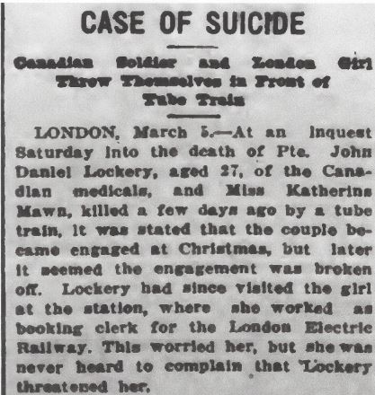 Newspaper clipping– From the Daily Colonist of March 6, 1917. Image taken from web address of http://archive.org/stream/dailycolonist59y73uvic#page/n0/mode/1up