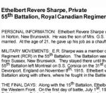 Essay– Belle Isle Regional High School - 'Lest We Forget - Springfield, New Brunswick'  In the Spring of 2008, the Grade 11 Modern History students at Belle Isle Regional High School completed biographies for eighteen First World War soldiers.  Their assignment was part of the ¿Lest We Forget¿ project initiated by Blake Seward, a history teacher, in Smiths Falls, Ontario.  The students researched individuals from Norton, New Brunswick who died while serving in the First World War.  There are 44 names listed on the local cenotaph, Riverbank Memorial and it is their intention to continue this project until students have completed biographies on all the individuals listed.  Their teacher, Stephen Wilson, then intends to research the soldiers from the Second World War.