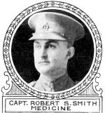 Photo of Robert Smith– From: The Varsity Magazine Supplement Fourth Edition 1918 published by The Students Administrative Council, University of Toronto.   Submitted for the Soldiers' Tower Committee, University of Toronto, by Operation Picture Me.