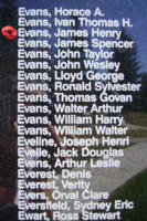 Memorial– Flight Sergeant James Henry Evans is also commemorated on the Bomber Command Memorial Wall in Nanton, AB … photo courtesy of Marg Liessens