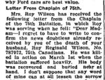 Newspaper Clipping 2– From the Perth Courier for 4 May 1917.