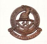 Badge– 15th Bn cap badge. Photo by BGen G. Young 15th Battalion Memorial Project Team..  DILEAS GU BRATH