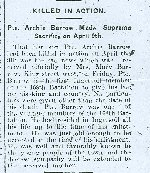 Newspaper Clipping– Newspaper report. Courtesy services of Ingersoll Public Library, a branch of Oxford County Library