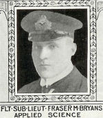Photo of Fraser Bryans– From: The Varsity Magazine Supplement published by The Students Administrative Council, University of Toronto 1918.  