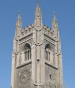 The Soldiers' Tower– The Soldiers' Tower was built at University of Toronto in 1924 in memory of those lost to the University in the Great War. Among the 628 names carved on the Memorial Screen beside the Tower is that of Fraser Bryans. After the Second World War, the names of 557 more men and women were carved in the Memorial Arch underneath the Tower. Photo:  K. Parks.