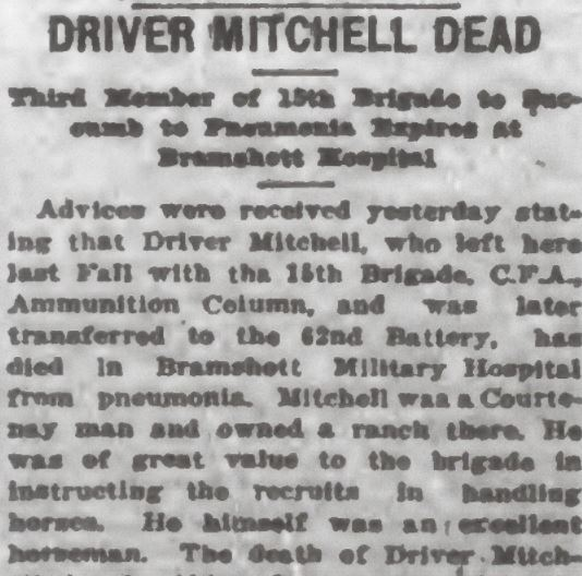 Newspaper clipping– From the Daily Colonist of January 28, 1917. Image taken from web address of http://archive.org/stream/dailycolonist59y42uvic#page/n0/mode/1up