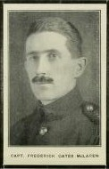 Photo of FREDERICK GATES MCLAREN– Captain Frederick Gates Mclaren, Trinity College School Record, 1916-1919, Port Hope, Ontario