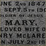 Memorial– Family history on the McLaren monument.