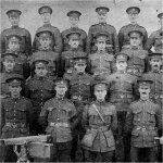 Photo of Machine Gun Section 28th Battalion.– Private K. McLean third row, third from right.