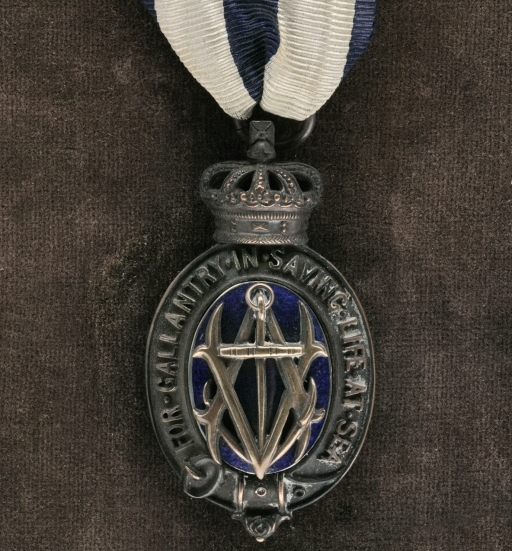 Medal– The Albert Medal for Saving Life at Sea, awarded posthumously to Ernest Edmund Beard by King George V for his heroism in the Halifax Explosion, in which he died.  Ernest Beard's Albert Medal is held by the Canadian War Museum in Ottawa.