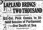 Newspaper Clipping– From The Globe (Toronto) for 3 March 1919, page 13.