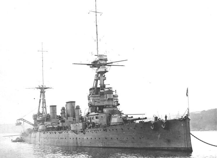 HMS Indefatigable– The Royal Navy battlecruiser HMS Indefatigable, in which Stanley Nelson De Quetteville was serving when he was killed.  Indefatigable was sunk on 31 May 1916 during the Battle of Jutland, the largest naval battle of World War I. Part of Vice-Admiral Sir David Beatty's Battlecruiser Fleet, she was hit several times in the opening phase of the battlecruiser action. Shells from the German battlecruiser Von der Tann caused an explosion which ripped a hole in her hull, and a second explosion hurled large pieces of the ship 200 feet (60 m) in the air. Only two of the crew of 1,019 survived.