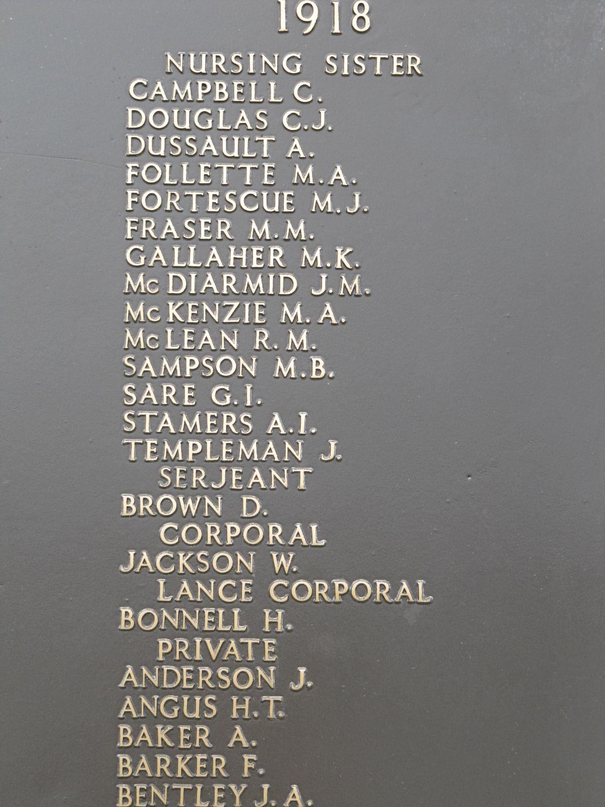 Inscription on the Halifax Memorial