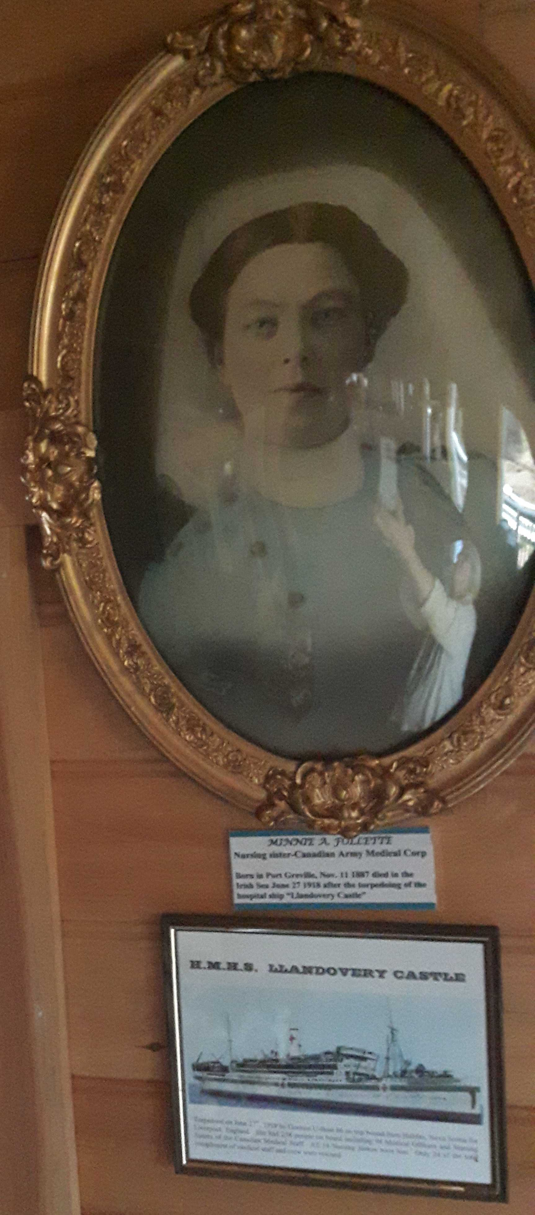 Photo of Minnie Follette– Courtesy of The Age of Sail Museum Port Greville Nova Scotia.