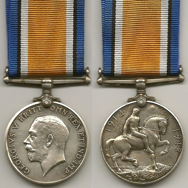 British War Medal– The World War I British War Medal (as posthumously awarded to Walter Gardner).