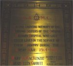 Memorial Plaque– Memorial Plaque at Queen's Park, Toronto.