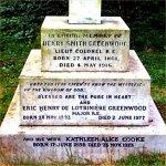 Inscription– Lieut.-Colonel H.S. Greenwood grave marker inscription.