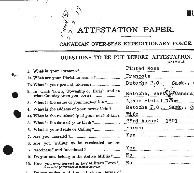 Attestation paper– Attestation Paper, page one.