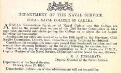 Photo of William McKinstry Maitland-Dougall– William Maitland-Dougall attended the Royal Naval College of Canada.