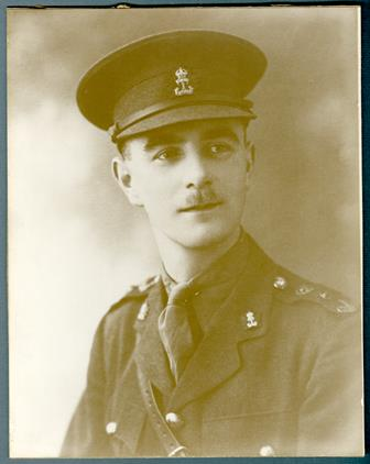 Photo of HENRY BELL– Studio photograph (from the chest-up) of Lieutenant Henry Bell in uniform. Bell, Henry, Lieutenant, 406669, enlisted in the 1st Infantry Battalion (Western Ontario Regiment) of the Canadian Expeditionary Force (CEF) on 19 April 1915. He died 28 Sept. 1918 at the age of 26. He his buried at the Terlincthun British Cemetery, Wimille, Pas de Calais, France. Grave/Memorial Reference number is IV.D.42. He was born in Southport, Lancashire, England on 22 June 1893 to John and Anna Bell. In the early 1900's the family moved to Canada and lived in Hamilton, Ontario. CWM ARCHIVES / ARCHIVES DU MCG : Photo Archives 52B 2 3.1