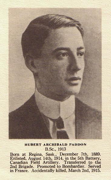 Photo of Herbert Archibald Paddon