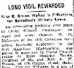 Newspaper Clipping– From the Toronto Star for 4 April 1916, page 2.