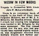 Newspaper Clipping– Major William H. McLaren is mentioned in this article about the death of his brother.