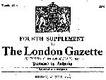 Newspaper Clipping– Extract from the London Gazette