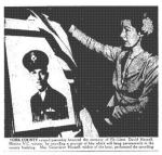 Newspaper Clipping– The Toronto Star June 6, 1945, page 8 The names of the crew from They Shall Grow Not Old published by Commonwealth Air Training Plan Museum, Brandon, Man: F/Sgt. (FE) Donald S. Scott, Mentioned in Despatches, age 22, from Pakenham, Ont. Sgt. (FE) Fernand St. Laurent, Mentioned in Despatches, age 24, from La Point au Pere, Quebec.