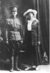 Photo of Fred Ambo– Fred Ambo, was born  in Quebec City then his parents moved to Hamilton, Ontario. He stands here with his fiancée whose name appears as his next of Kin.