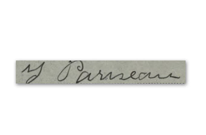 Signature de Thomas Pariseau.