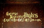 Memorial– A detail of the memorial panel dedicated to Chaplain George Leycester Ingles.  Located in the St. Thomas Church Baptistry, Toronto, Ontario.
