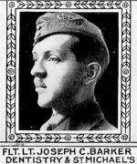 Photo of Joseph Barker– From: The Varsity Magazine Supplement Fourth Edition 1918