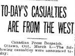 Coupure de presse – Du Toronto Star du 8 mars 1915.