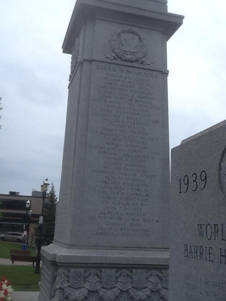 Mémorial – Barrie Cenotaph