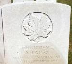 Grave Marker– Photo courtesy Wilf Schofield, England.